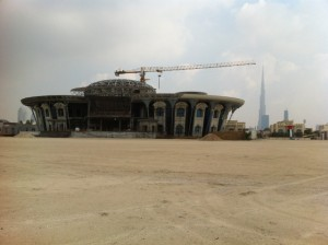 Small pad being built on the beach in Jumeirah