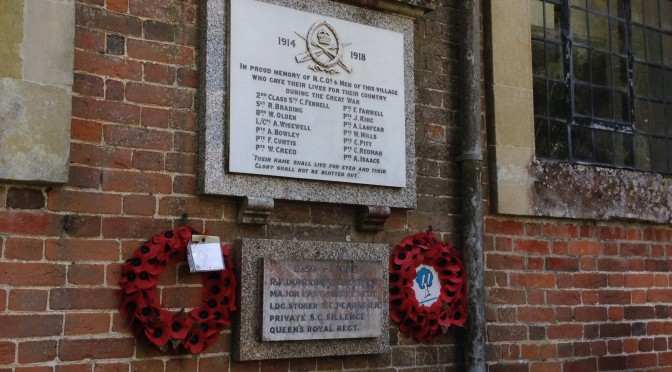 The Centenary Commemoration of the start of WW1