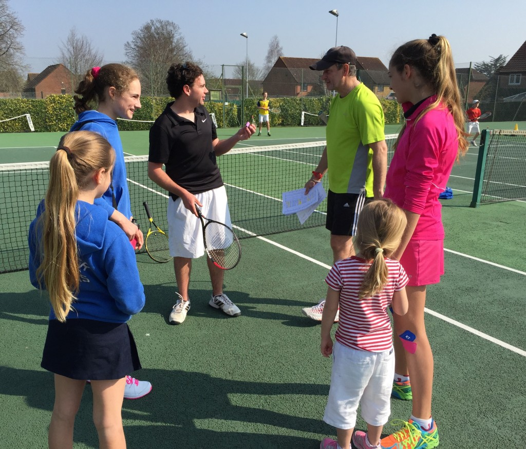 Coaches George & Martyn discussing which is the best grip for the Littlest