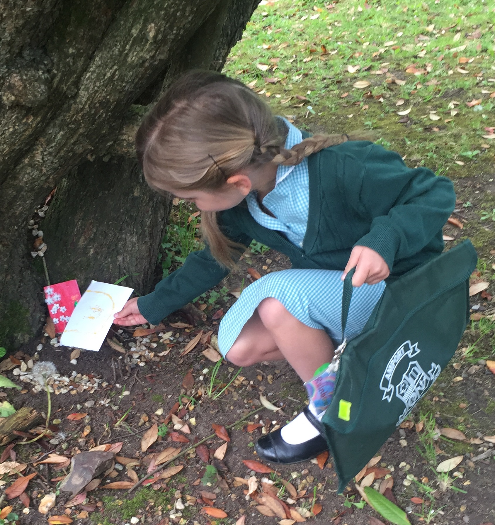 The Littlest leaving a letter for the Fairy Queen