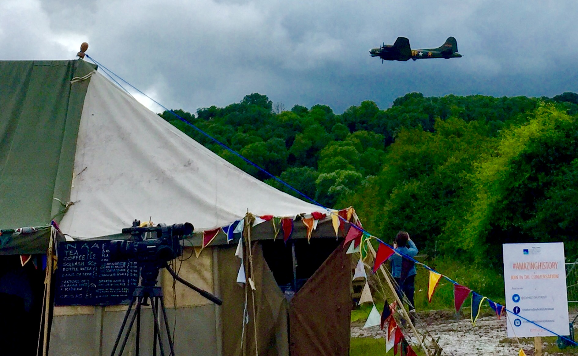 Low flying aircraft over the Chalke Valley