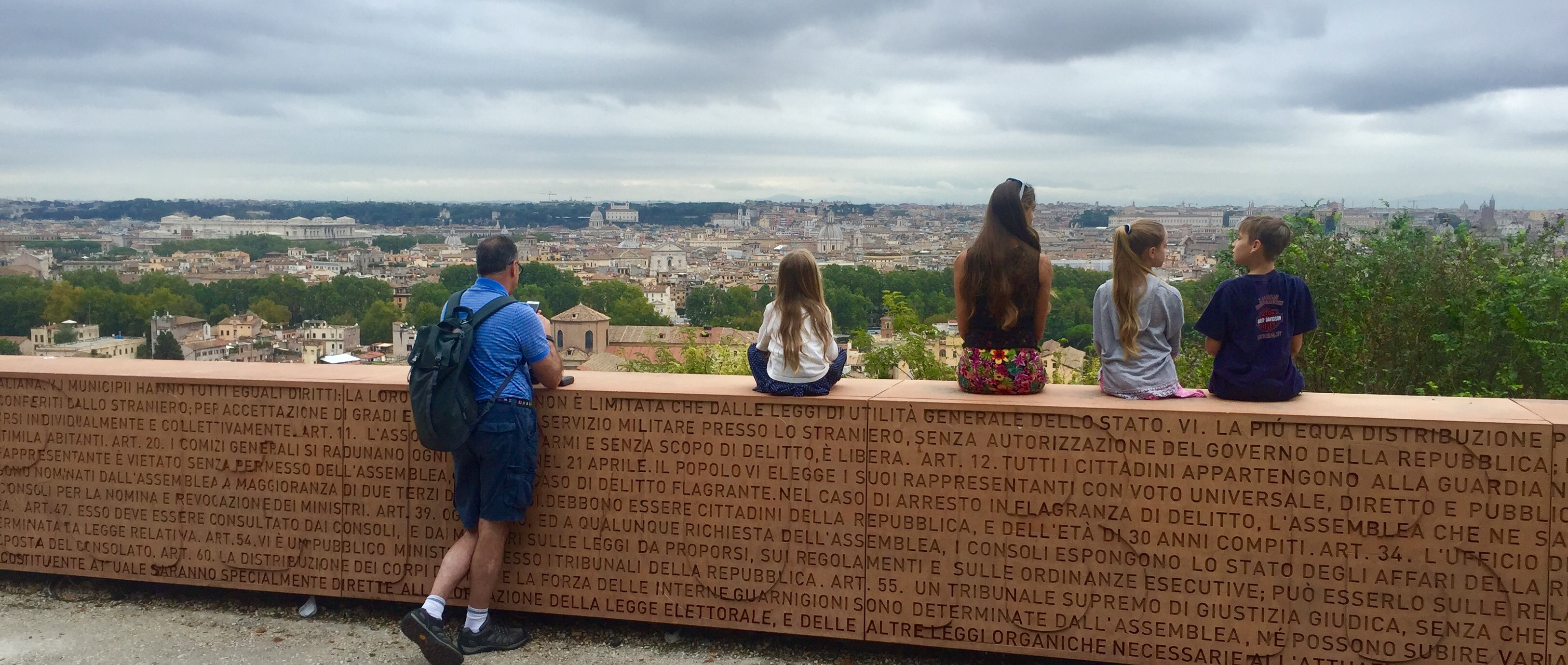 View over Rome from the Janiculum Hill