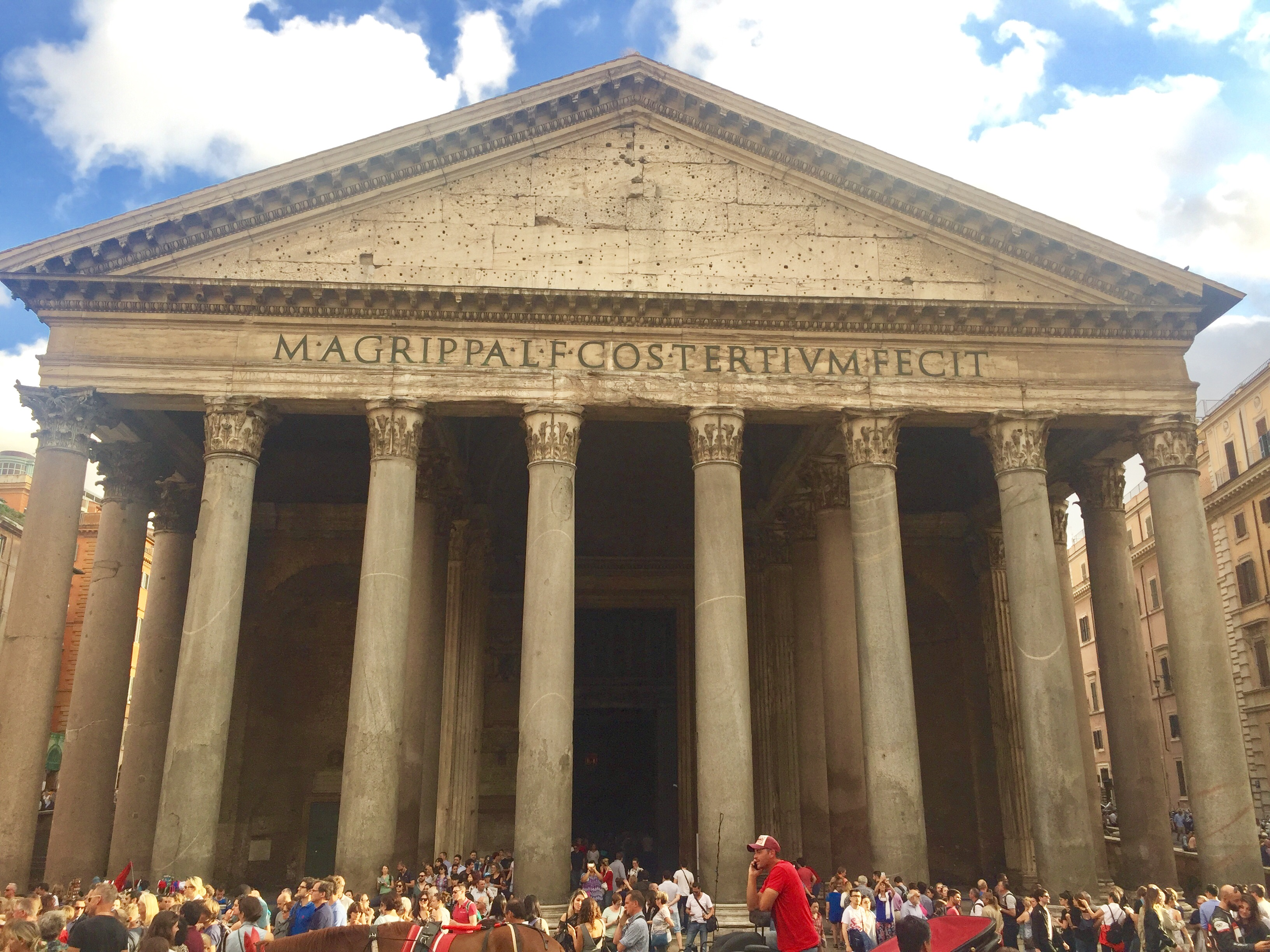 Outside the astonishing Pantheon