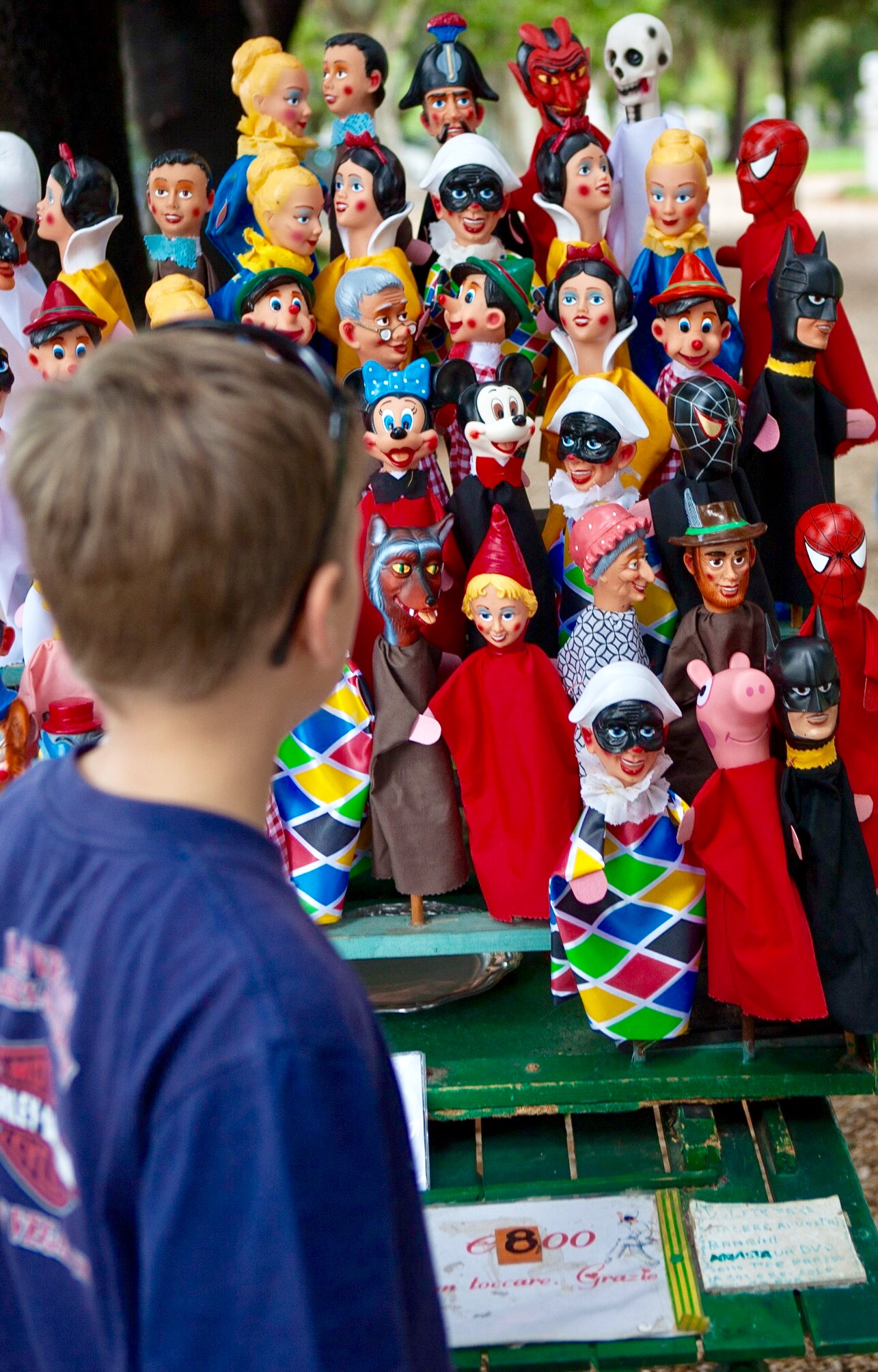The striking puppets at the puppet theatre