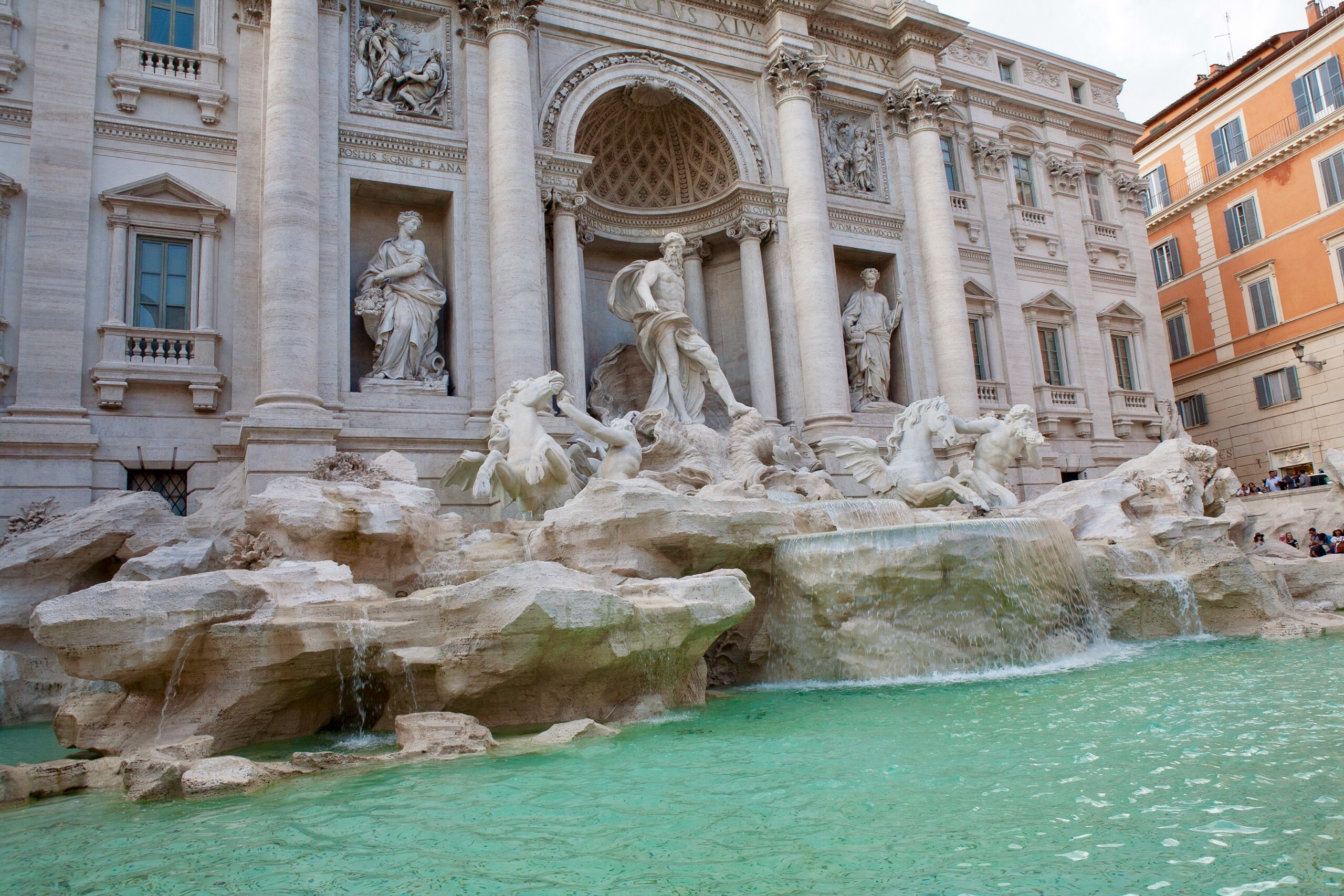 The beautiful Trevi Fountain